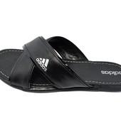 Шлепанцы мужские Adidas X черные (реплика)