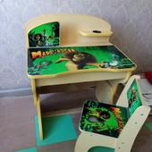 Парта для дошкольника 2.6-6(стол и стул)Мадагаскар