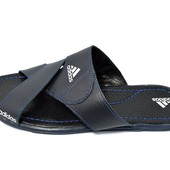 Шлепанцы мужские Adidas Style 500 синие (реплика)