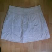 Фирменная легкая хлопковая юбка L-XL