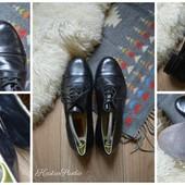 Натуральные кожаные туфли-оксфорды р-р 44
