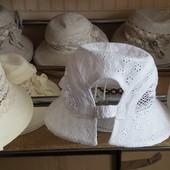 Женские летние головные уборы ,материал-лён