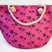 Стильные пляжные сумки,принт пальмы