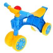 Роллоцикл 4 колеса желто-голубой Технок 2759 беговел пластиковый