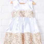 Распродажа - Платье нарядное девочке рост 86 см. от  ЛюМер на свадьбу крестины утренник