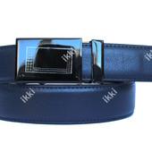 Мужской классический ремень синего цвета автомат (П-052)