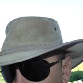 Стильная оригинал кожаная  шляпа а-ля  крокодил денди бренд Barman Австралия л-хл