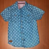 классная рубашка на мальчика 7-8 лет