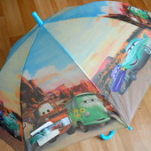 Яркий крутой детский зонт зонтик трость для мальчика Тачки