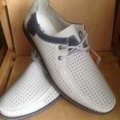 КОЖА мужские летние туфли 41