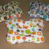 Ортопедическая подушка Бабочка, подушки для детей от 1 месяца, экокоттон