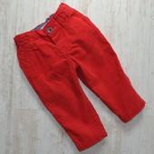Красные вельветовые брюки 4-6 мес