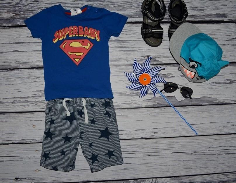 12 - 18 месяцев 86 см крутая фирменная футболочка для стильного мальчика супермен фото №1