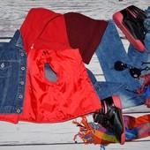 6 - 9 месяцев Обалденный фирменный джинсовый пиджак куртка 2 в 1 мальчику и теплая жилетка