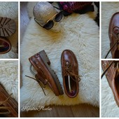 Кожаные туфли топ-сайдеры р-р 37-38