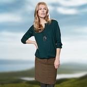 Мягкая осень!  Вельветовая юбка светло-коричневого цвета от Tcm Tchibo, р-р 40, 42,44 европейский