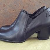 Кожаные демисезонные ботинки туфли ботильоны 5Th Avenue 38
