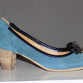 Кожаные фирменные красивые женские туфельки 36 р - Новые