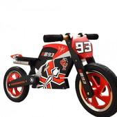 Беговел 12 Kiddi Moto Heroes деревянный, с автографом Mark Marques, велобег, без педалей, велосипед