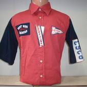 Распродажа! Мужская рубашка с коротким рукавом W.S. Разные цвета.