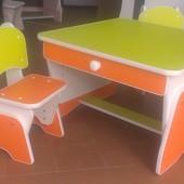 Столик и стульчики с регулировкой высоты для двоих малышей. Николаев.