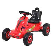 Детский педальный Карт M 1562-3 веломобиль, резиновые колеса, красный