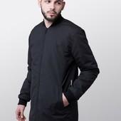 Удлиненная куртка-бомбер BLK