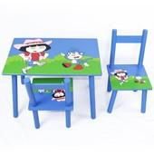 Стол + 2стула 2407-104 (W02-887(Н921) Дора
