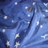 шарф звёзды 100% шёлк