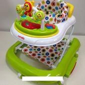 Детские ходунки CRL-9602 light green 3 в 1 (ходунки, качалка, каталка)