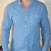 продам модную мужскую рубашку в клетку H&M размер Л L недорого лето