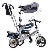 Трехколесный детский велосипед Lexuse Trike XG18919-T12-1 серебристый