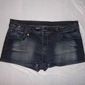 M-L, поб 48-50, с пайетками! джинсовые короткие шорты стрейч Denim Co