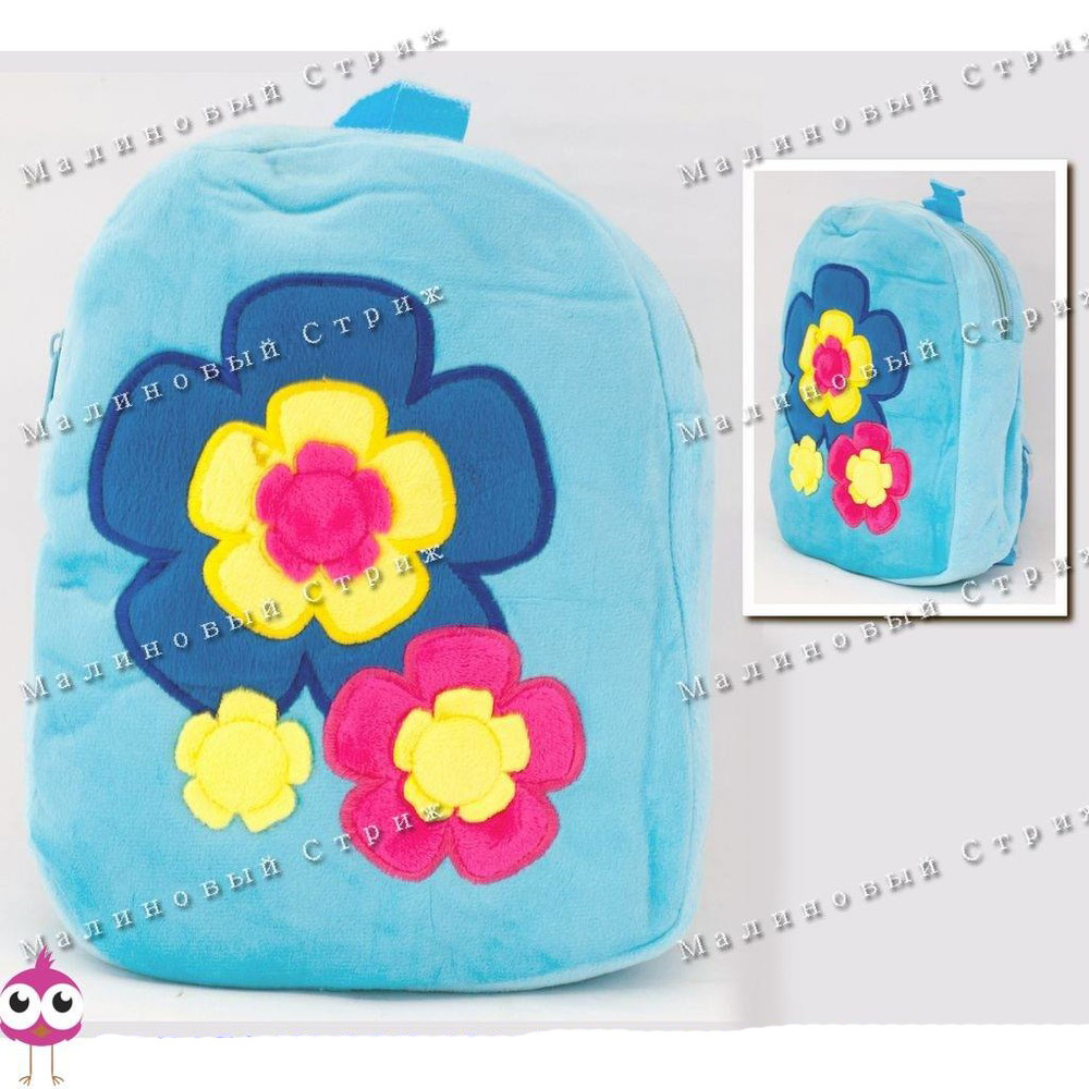 "Детский рюкзак ""Цветы"" MP 1243, на молнии, 25х20х7см фото №1"