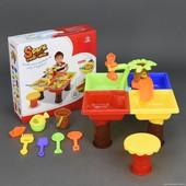 Столик игровой для песка и воды + стульчик 9828