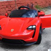 Детский электромобиль Porsche 8988 на резиновых eva колёсах,красный