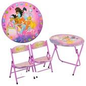 Детский столик Столик D 13571 Winx со стульчиками