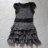р. 140-146, 10-11 лет, хлопковое симпатичное платье Matalan