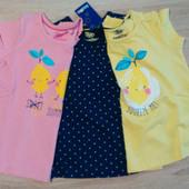 Футболки для девочки фирмы Lupilu 1-2 и 4-6 лет