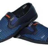 40 р Синие мужские летние удобные мокасины (БЛ-06спз)