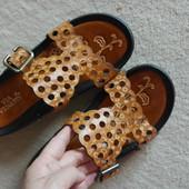 Модные кожанные шлепанцы из США