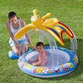 """Детский бассейн Bestway 52137 с надувным навесом от солнца """"Бабочка"""""""