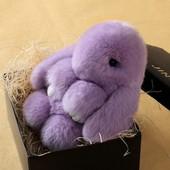 Мягкая игрушка,зайчик,брелок,заяц,для детей,пушистый Rex Fendi