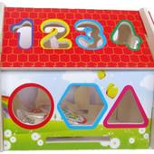 Деревянная игрушка-сортер «Дом.Собери сам» Д198у Руди