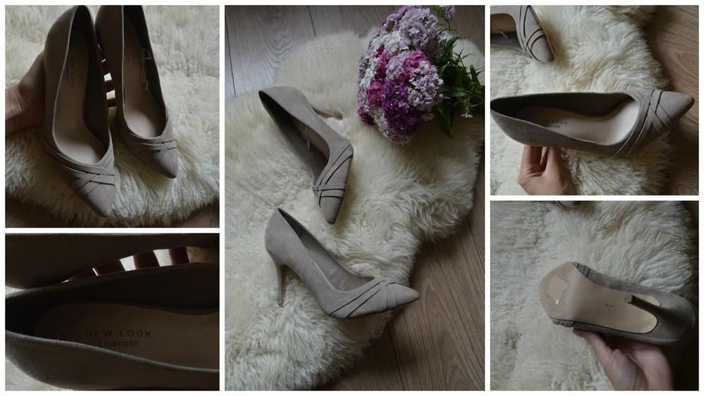 Нежные нюдовые туфли-лодочки NewLook с кожаной стелькой р-р 37 фото №1