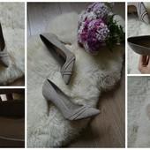 Нежные нюдовые туфли-лодочки NewLook с кожаной стелькой р-р 37