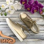 Модные сникеры Daisy Street с блестящим золотистым напылением  SH25103