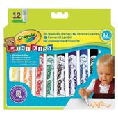 Широкие смываемые фломастеры Crayola набор для малышей 12 шт