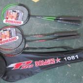 Бадминтон bt-bps-0016 безшовный 2 ракетки в сумке 2цвета
