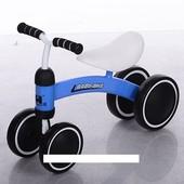 Беговел Baby-Bike 859-4 колеса EVA+кож сиденье, синий ***